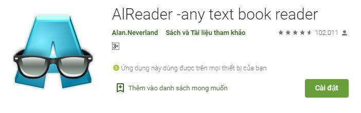 AlReader, app đọc truyện tốt nhất với tôi